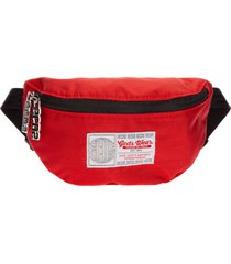 gcds bright red bum bag