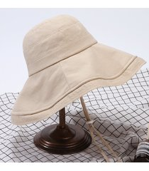 sombrero para mujer, pescador algodón femenino verano-beige
