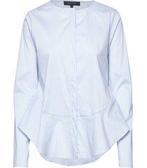 aimee shirt blus långärmad blå soft rebels