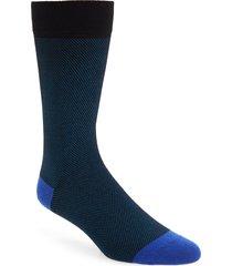 ted baker london textured socks in teal-blue at nordstrom