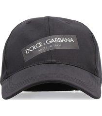 dolce & gabbana logo print baseball cap