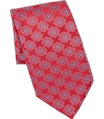 bohemian print silk tie