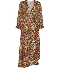 chellagz dress ma19 maxi dress galajurk multi/patroon gestuz