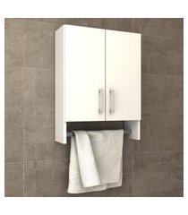 armário aéreo suporte para toalha smart bosi branco