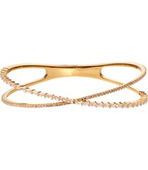 women's nordstrom cubic zirconia baguette crisscross cuff bracelet