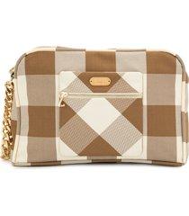 0711 beige vivi cosmetic bag - brown