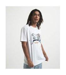 camiseta manga curta com estampa game | blue steel | branco | gg