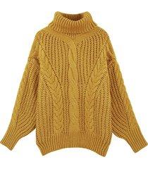 maglione dolcevita casual da donna