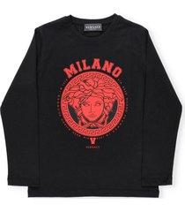 versace graphic logo sweater