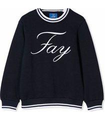 fay dark blue cotton sweatshirt