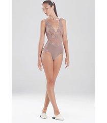 natori rose parfait essentials bodysuit, lingerie, women's, size l