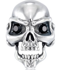 andrew charles by andy hilfiger men's cubic zirconia signature skull ring in stainless steel