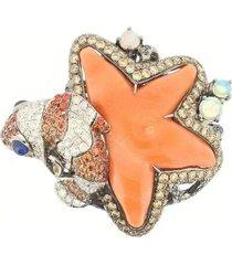 coral starfish ring