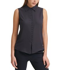 calvin klein x-fit collared blouse
