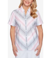 alfred dunner petite classics ombre stripe shirt