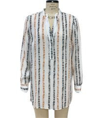 alfani plus size printed y-neck tunic, created for macy's