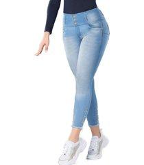 jeans colombiano jogger push up acuario azul tyt jeans