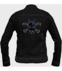 kurtka jeansowa batman crossbones