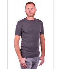 garage basic t-shirt round neck dark grey semi bodyfit ( art 0301)