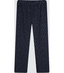 pantalon mujer mini estrellas color azul, talla l