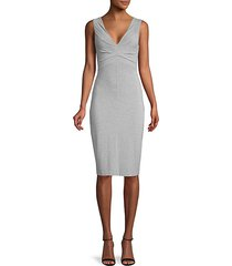 heathered sheath dress