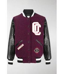 opening ceremony varsity patch-embellished bomber jacket