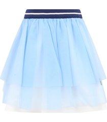 simonetta light blue skirt for girl