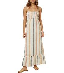 women's o'neill lane woven tank dress, size x-small - white