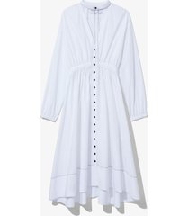 proenza schouler white label cotton poplin shirt dress off white 8