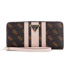guess ambrose slg large zip-around wallet