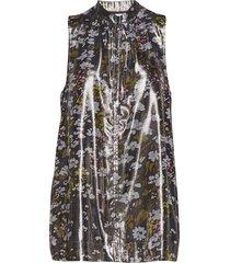lurex silk korte jurk multi/patroon ganni