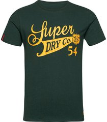 collegiate graphic tee 185 t-shirts short-sleeved grön superdry