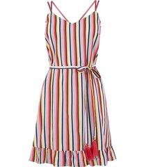 gestreepte jurk met koord