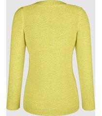 tröja av bandgarn dress in gul