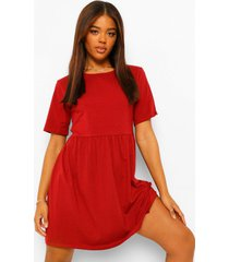 oversized l'amour t-shirtjurk met naaddetail, roest