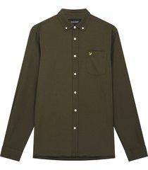 lyle and scott lw1302vtr lyle&scott regular fit light weight oxford shirt, w485 olive