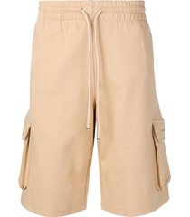 drôle de monsieur side pocket shorts - neutrals