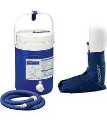 kit sistema para crioterapia aplicador p/ tornozelo + cooler aircast