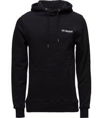 casual hoodie sweat-shirts & hoodies hoodies zwart han kjøbenhavn