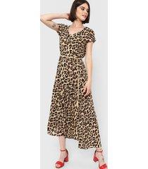 vestido marrón etam gautama