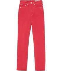 rag & bone women's jane super high-rise cigarette jeans - fire red - size 24 (0)