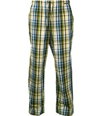 schiesser pyjamabroek ruitje groen