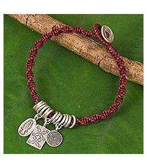 silver charm bracelet, 'karen icons' (thailand)
