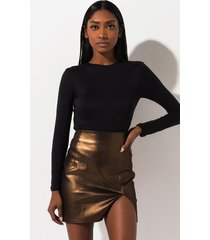 akira the jess metallic stretch mini skirt