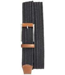 men's big & tall torino woven belt, size 46 - black