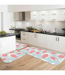 kit love decor tapete wevans de cozinha wevans bule poá azul