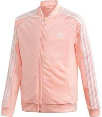 jaqueta adidas sst tracktop rosa