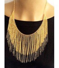 collar wow! dorado/plateado