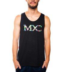 camiseta mxc brasil regata multcolors colorido - multicolorido - masculino - dafiti
