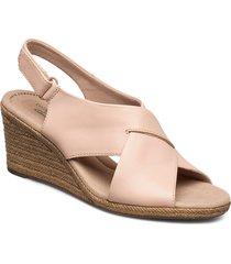 lafley alaine sandalette med klack espadrilles rosa clarks